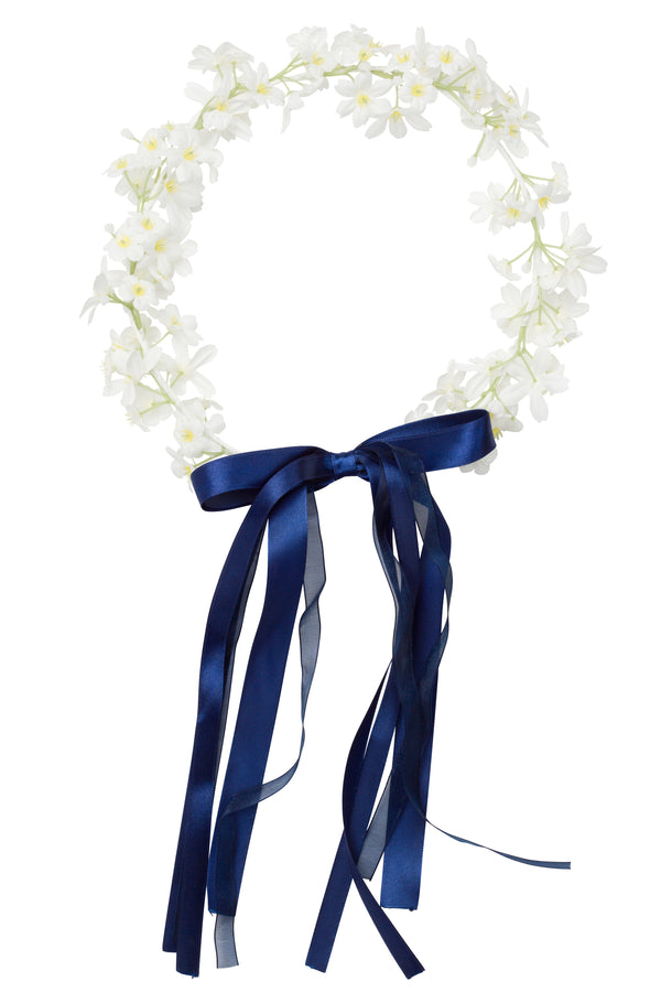 Flower Wreath - Navy Ribbon - PROJECT 6, modest fashion