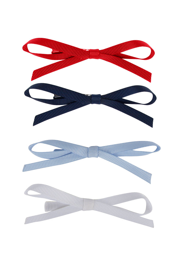 Gerber Grosgrain Clips  - WHITE/LIGHT BLUE/RED/NAVY - PROJECT 6, modest fashion