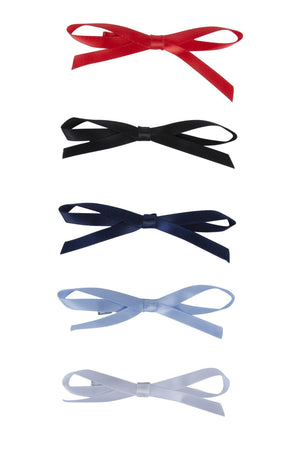 Gerber Satin Clips  - WHITE/LIGHT BLUE/RED/NAVY/BLACK - PROJECT 6, modest fashion