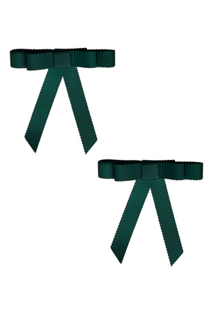 Grosgrain Bow Clip Set (2) - Spruce - PROJECT 6, modest fashion
