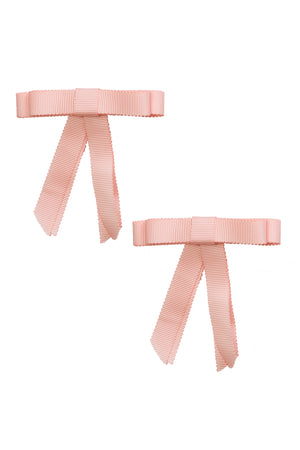 Grosgrain Bow Clip Set (2) - Moonstone - PROJECT 6, modest fashion