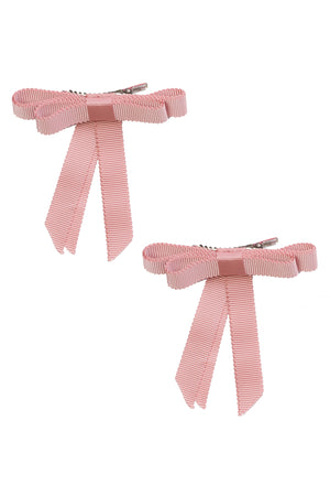 Grosgrain Bow Clip Set (2) - Sweet Nectar - PROJECT 6, modest fashion
