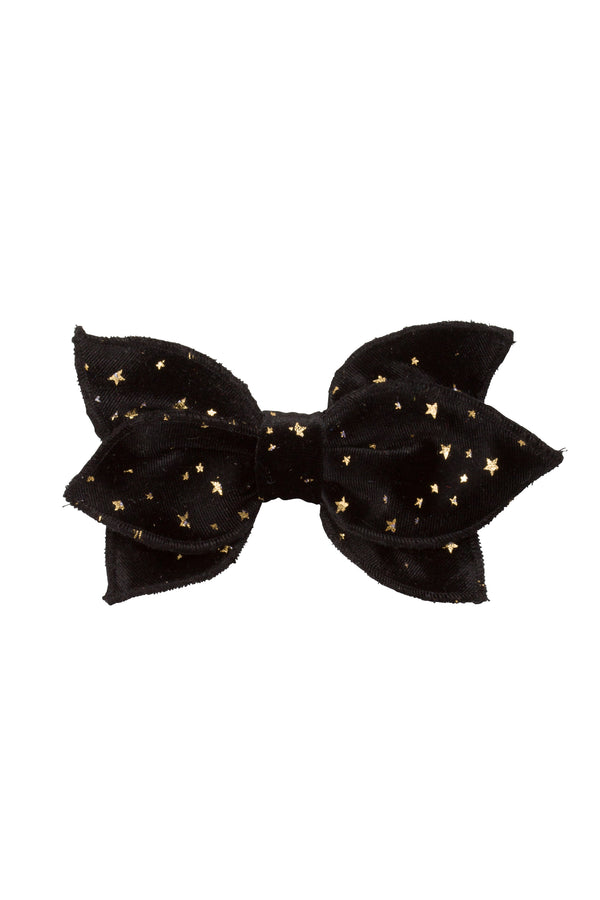 Growing Orchid Clip - Black Star Velvet - PROJECT 6, modest fashion