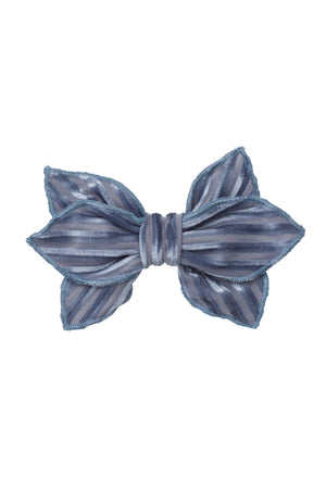 Growing Orchid Clip - Blue Velvet Stripe