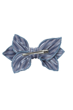 Growing Orchid Clip - Blue Velvet Stripe - PROJECT 6, modest fashion