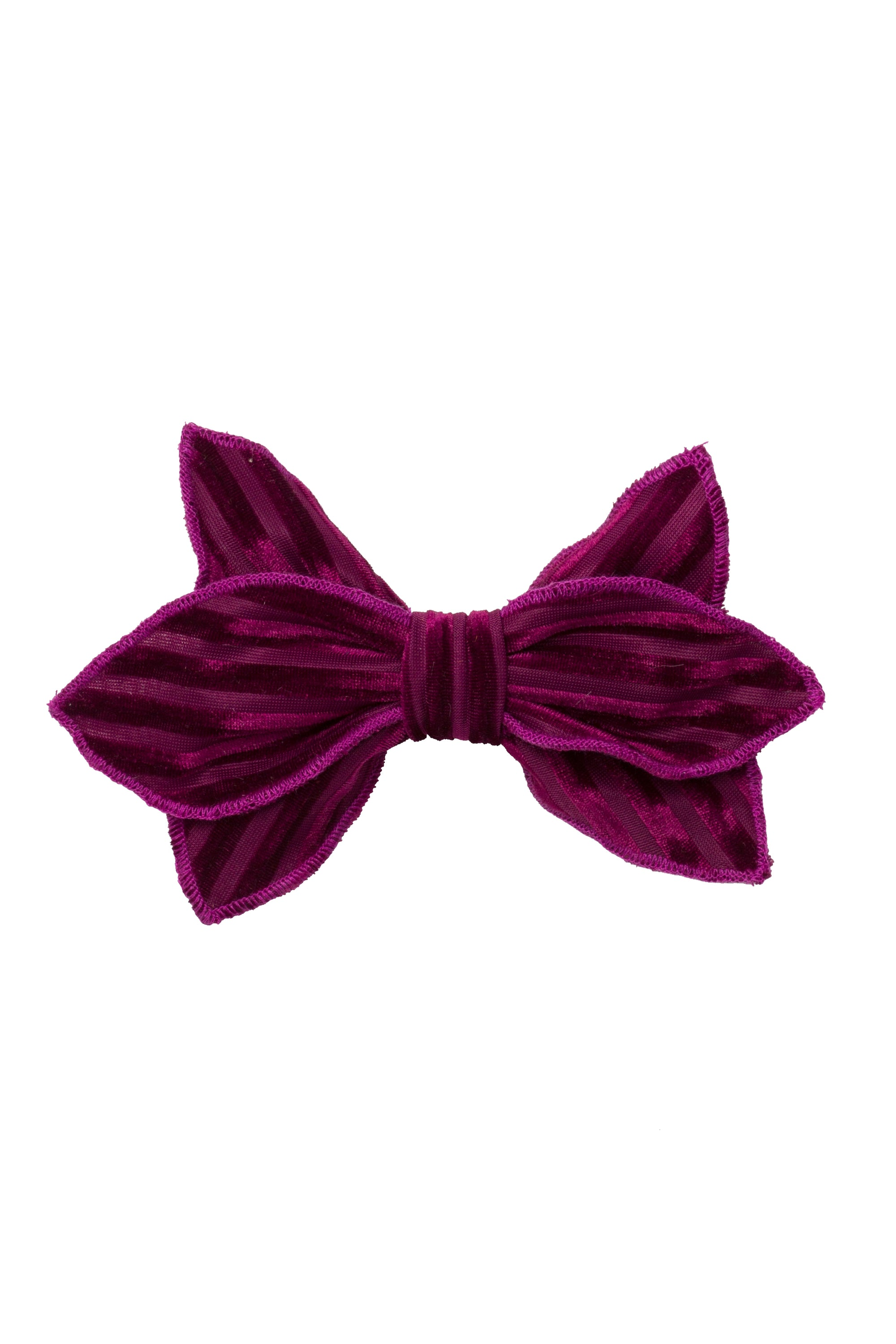 Growing Orchid Clip - Eggplant Velvet Stripe - PROJECT 6, modest fashion