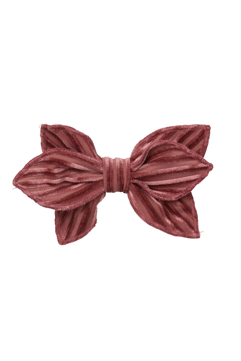 Growing Orchid Clip - Rose Velvet Stripe - PROJECT 6, modest fashion