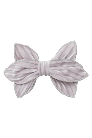 Growing Orchid Clip - Silver Velvet Stripe - PROJECT 6, modest fashion