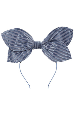 Growing Orchid Headband - Blue Velvet Stripe - PROJECT 6, modest fashion