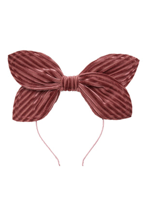 Growing Orchid Headband - Rose Velvet Stripe