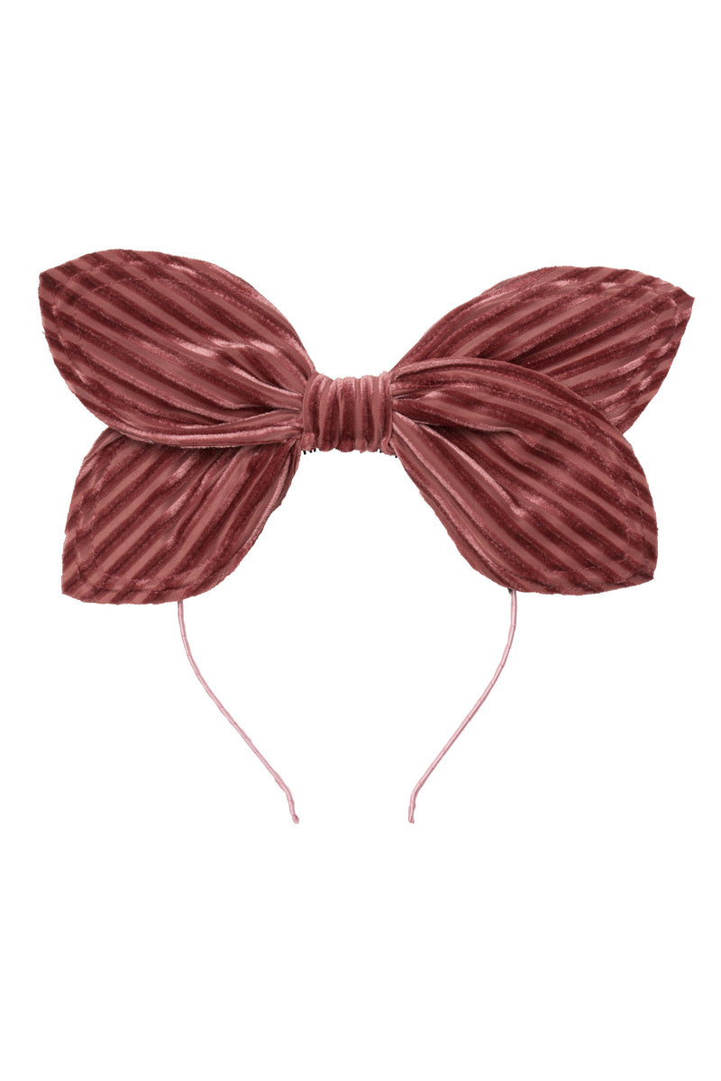 Growing Orchid Headband - Rose Velvet Stripe - PROJECT 6, modest fashion