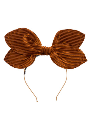 Growing Orchid Headband - Rust Velvet Stripe