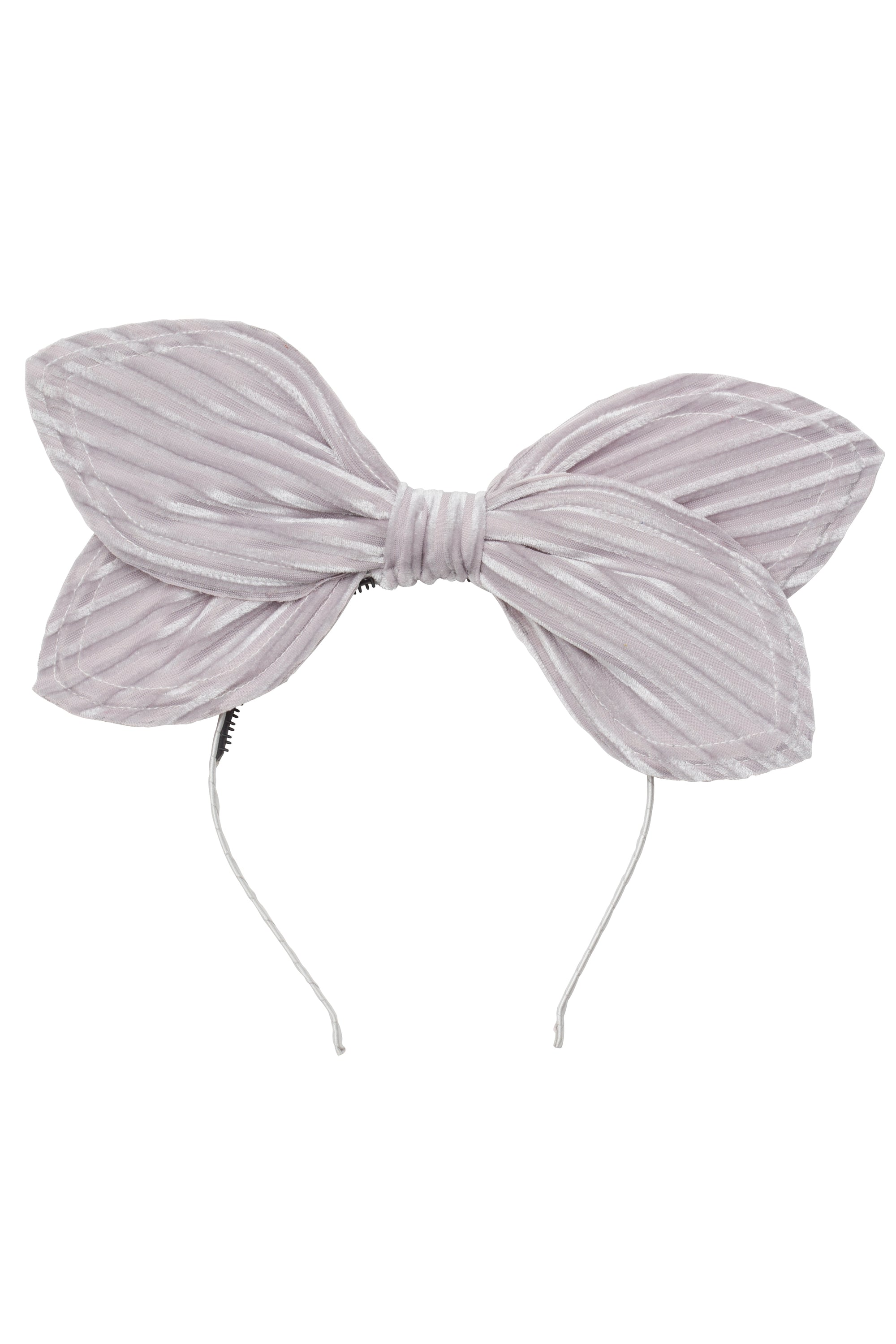 Growing Orchid Headband - Silver Velvet Stripe - PROJECT 6, modest fashion
