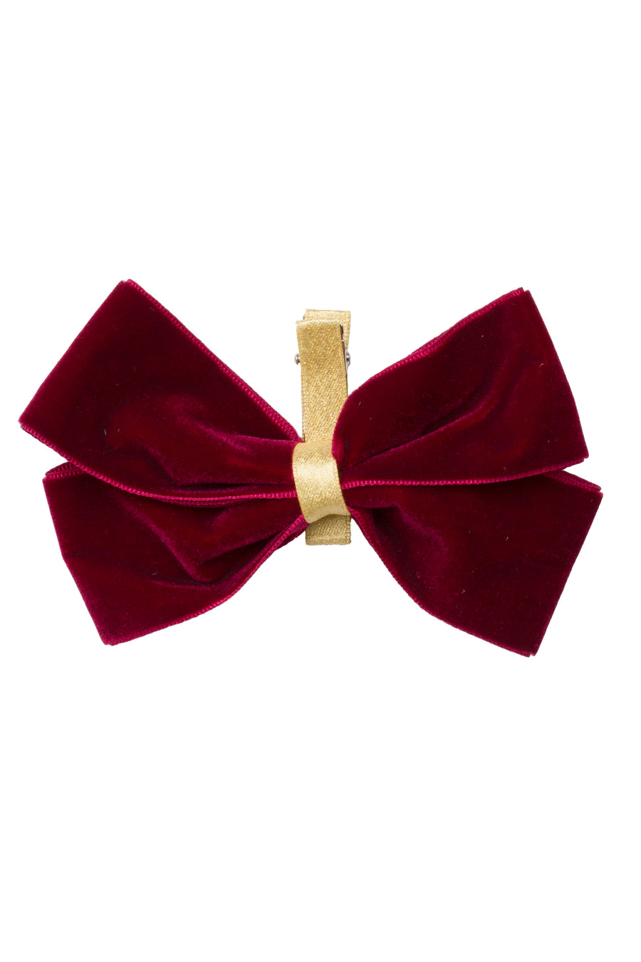 Heather Velvet Clip - Cranberry
