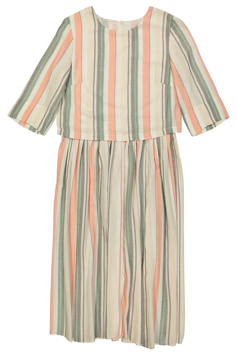 HEIRLOOM - Mint/Blush/Grey/Ivory Stripe Rayon - PROJECT 6, modest fashion