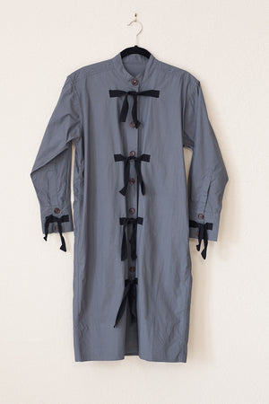 Taree Dress - Charcoal with Black Ties
