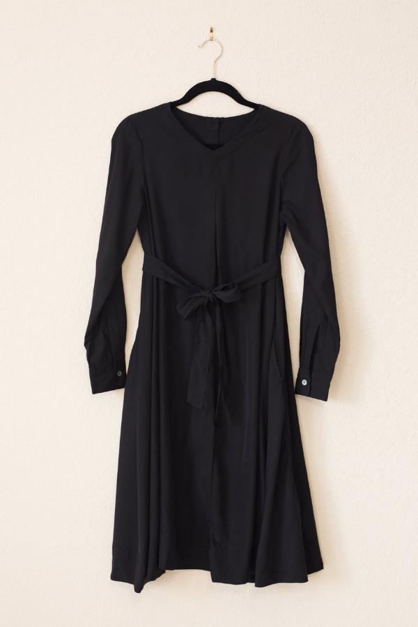 Swing Dress - Black Crepe - PROJECT 6, modest fashion