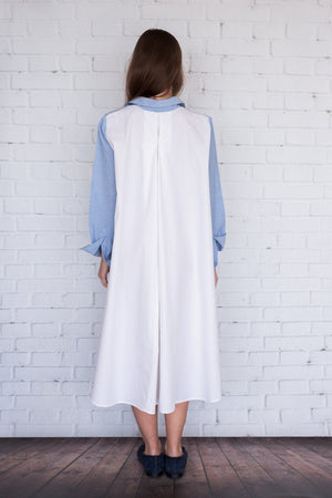 Maaya Short - Chambray/White - PROJECT 6, modest fashion