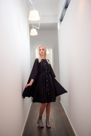 Shunka - Black Crepe - PROJECT 6, modest fashion
