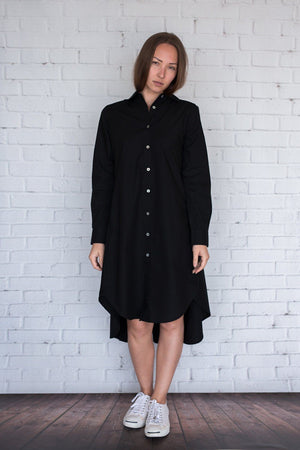 Maaya Short - Black Poplin - PROJECT 6, modest fashion