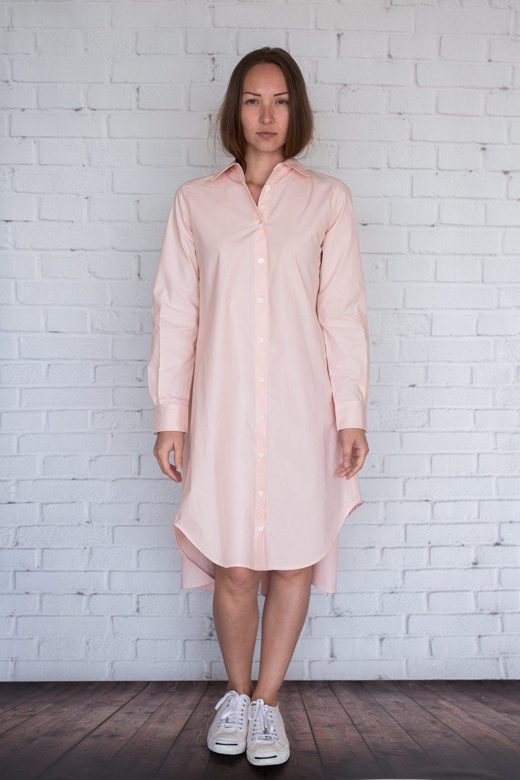 Maaya Short Length - Light Peach Poplin - PROJECT 6, modest fashion
