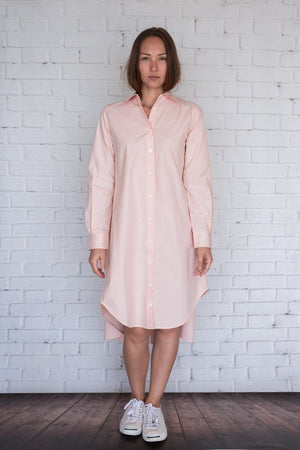 Maaya Short - Light Peach Poplin - PROJECT 6, modest fashion