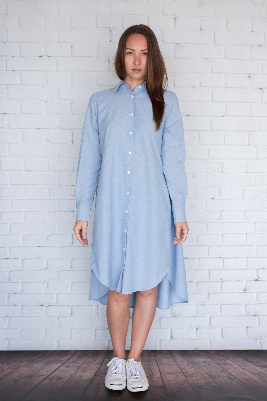 Maaya Short - Chambray - PROJECT 6, modest fashion