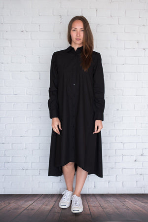 Maaya Medium - Black Poplin - PROJECT 6, modest fashion