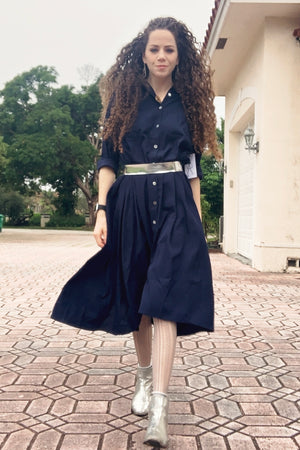 Maaya Medium - Navy Crepe