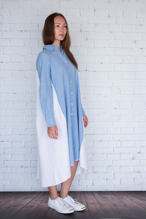 Maaya Medium - Chambray/White - PROJECT 6, modest fashion
