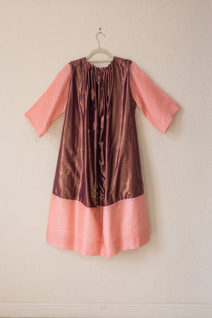 Nikki Dress - Raspberry Shine/Pink Tussel Silk - PROJECT 6, modest fashion