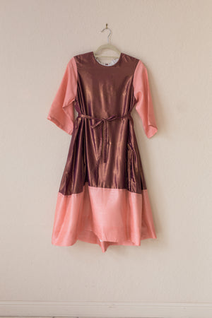 Nikki Dress - Raspberry Shine/Pink Tussel Silk