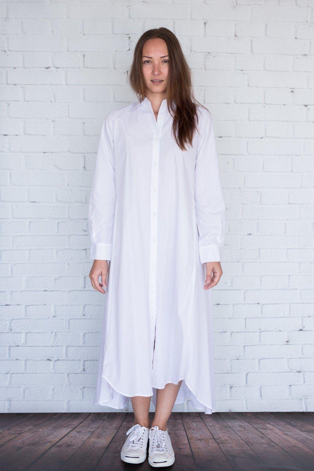 Maaya Long Length - White Poplin - PROJECT 6, modest fashion