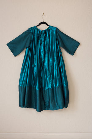 Nikki Dress - Turquoise Shine & Tussel Silk