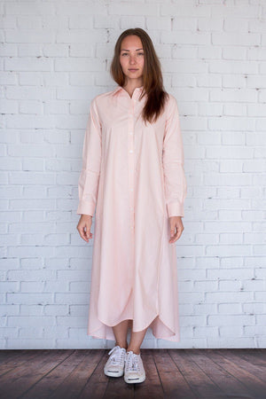 Maaya Long - Light Peach Poplin - PROJECT 6, modest fashion