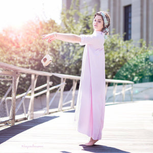 Maaya Long Length - Ballerina Pink Poplin - PROJECT 6, modest fashion