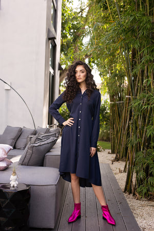 Maaya Medium - Navy Crepe - PROJECT 6, modest fashion