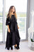 Momo Dress - Black Crepe - PROJECT 6, modest fashion