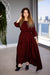 Momo Dress - Burgundy Crepe - PROJECT 6, modest fashion