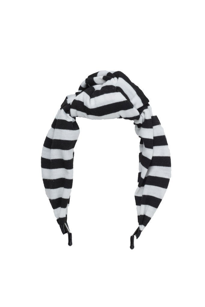 Knot Headband - Black/White Stripe - PROJECT 6, modest fashion