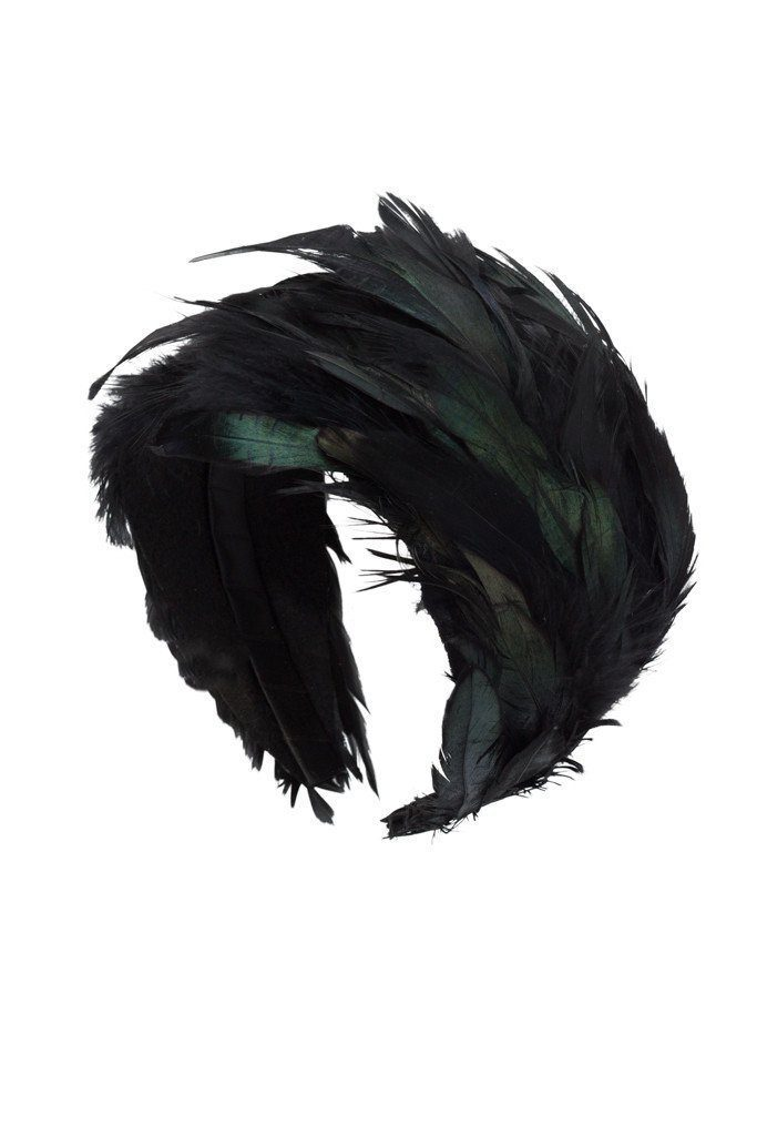 Feather Headband - Black - PROJECT 6, modest fashion