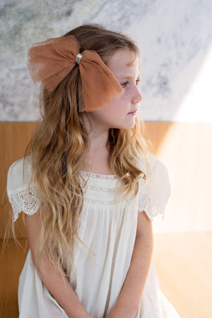 Soft Tulle Strips CLIP + WRAP - Rose