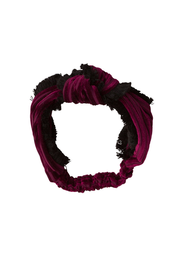 Knot Fringe Wrap - Burgundy - PROJECT 6, modest fashion