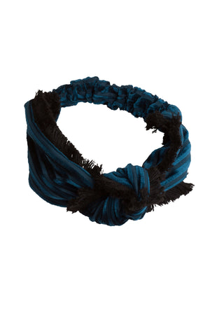 Knot Fringe Wrap - Teal - PROJECT 6, modest fashion