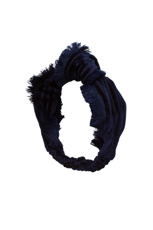 Knot Fringe Wrap- Navy - PROJECT 6, modest fashion