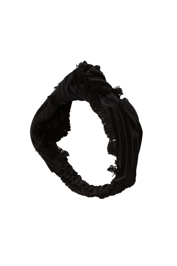 Knot Fringe Wrap - Black - PROJECT 6, modest fashion