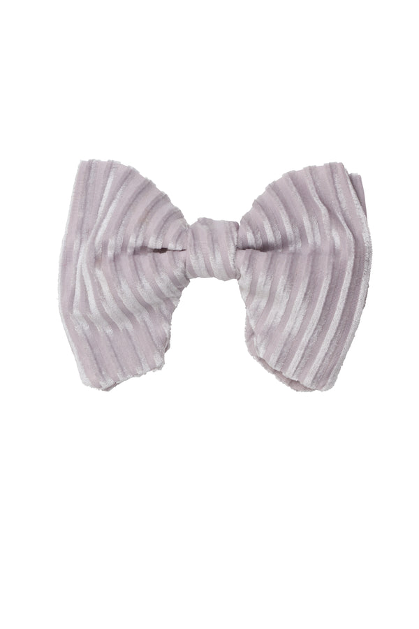 Beauty & The Beast Bowtie/Hair Clip - Silver Velvet Stripe - PROJECT 6, modest fashion