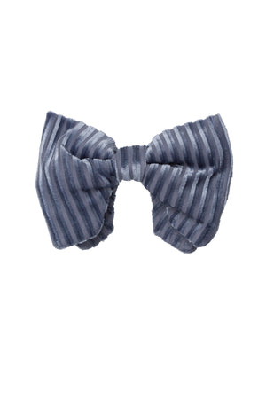 Beauty & The Beast Bowtie/Hair Clip - Blue Velvet Stripe - PROJECT 6, modest fashion