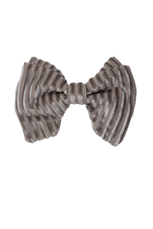 Beauty & The Beast Bowtie/Hair Clip - Grey Velvet Stripe - PROJECT 6, modest fashion