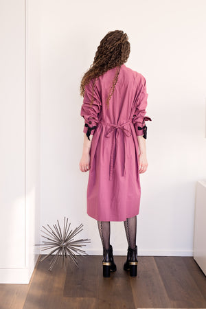 Taree Dress - Raspberry with Black Ties